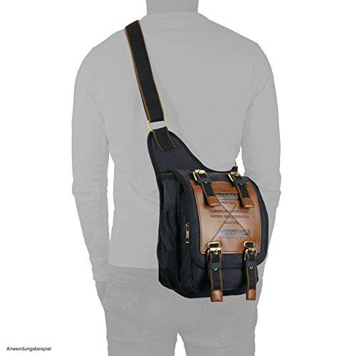 Manoro braun al hombro Bolso de Lona khaki marrón hombre para rrFzq