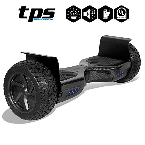 TPS All Terrain Off-Road Rugged Hoverboard 8.5″ Wheels Electric Smart Self Balancing Scooter with Speaker and LED Lights – UL2272 Certified