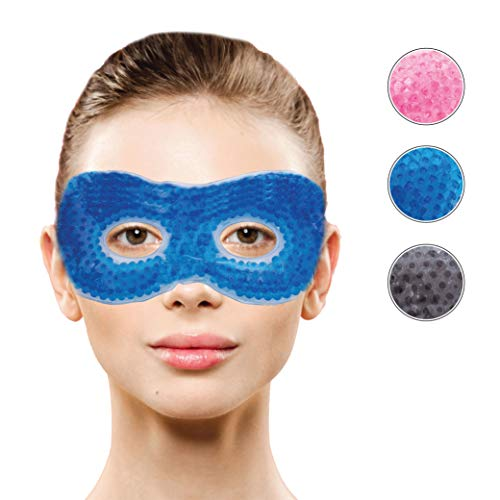 Therapeutic Hot or Cold Medical Eye Mask with Eye Holes| Reusable Compress for Puffy, Swollen, Dry, Itchy Eyes, Dark Circles, Migraines | Face Mask with Ergo Gel Bead Technology by Optix 55