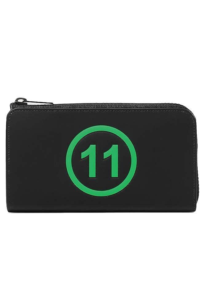 [メゾン マルジェラ]Maison Margiela 19S/S ロゴエンボスL字ジップ長財布 T8013 BLACK B07M763V7Q T8013 BLACK