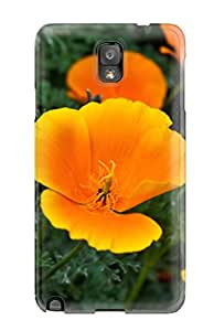 MitchellBrownshop 7283395K87736863 Orange Flowers Case Compatible With Galaxy Note 3/ Hot Protection Case