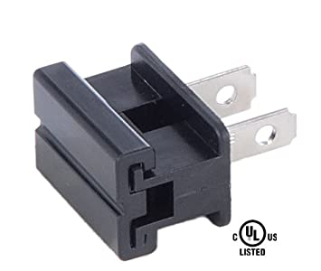 B&P Lamp Slide On Type Polarized Plugs (SPT-1, Black) - - Amazon.com
