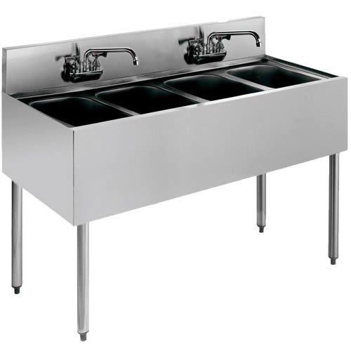 4 Compartment Bar Sink - Krowne Metal KR21-44C 48