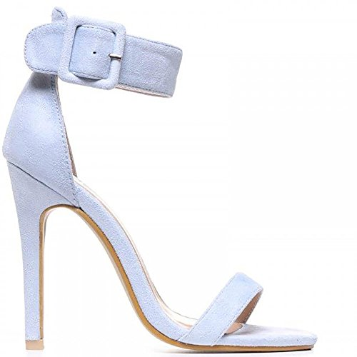 High Strap Ankle Ladies Sandals Blue Stilettos Peep Heels Strappy Toes Shoe Light Closet xP1qwgFg
