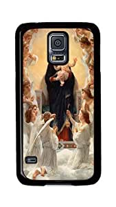 Samsung Galaxy S5 Case, S5 Cases - Mary Angels Ultimate Protection Scratch Proof Soft TPU Rubber Bumper Case for Samsung Galaxy S5 I9600 Black