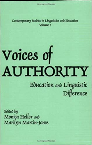 Voices of Authority: Education and Linguistic Difference (Contemporary Studies in Linguistics and Education, V. 1) (2001-02-28)
