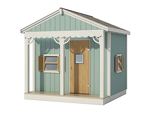 (Kids Playhouse Plans DIY Micro Cottage Guest House Backyard Storage Shed 8' x 8' )