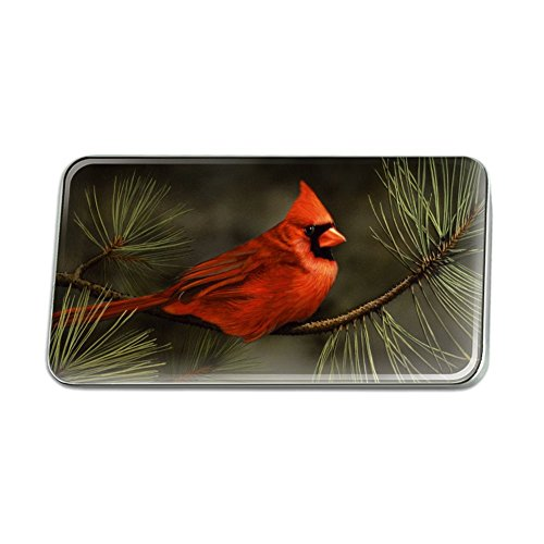 Pins Red Jewelry Hat (Graphics and More Northern Cardinal Red Pine Perch Metal Rectangle Lapel Hat Pin Tie Tack Pinback)