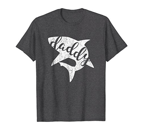 Mens Daddy Shark Shirt Matching Family Shirts Shark Family Xl Dark Heather