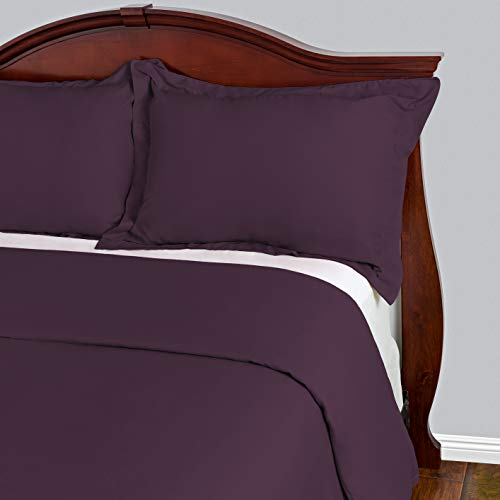 Cosy House Collection Duvet Cover 3 Piece Set - 1500 Series Ultra Soft Double Brushed Microfiber Hotel Bedding - Hypoallergenic - Comforter Cover and 2 Pillow Shams (King/Cal King,Purple) (Duvet Cover Plum King)