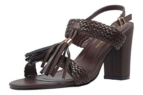 Andres Machado - Sandalias de vestir de Material Sintético para mujer marrón marrón