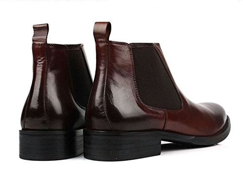 Santimon-Mens Genuine Leather Handsewn Martin Boots Shoes Coffee eUFbhQylD2