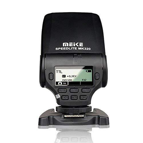 MeiKe MK-320 TTL LCD Mini Hot Shoe Flash Speedlight For Sony Mi A99 A77II A58 A7RII A7S NEX-6 A6000 DSRL Cameras by Meike