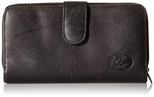 - Buxton Women's Heiress Ensemble Clutch, Black, One Size
