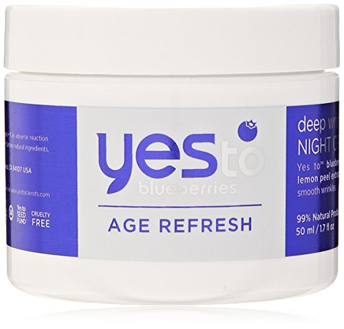Yes To Blueberries Age Refresh Deep Wrinkle Night Cream, 1.7 Ounce ()