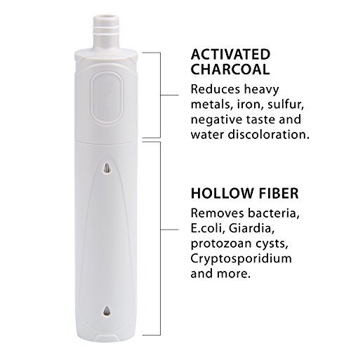 Clear Flow Water Filter 1,500 L Carbon and Hollow Fiber Membrane Water Filter Straw Survivor or Emergency Filter