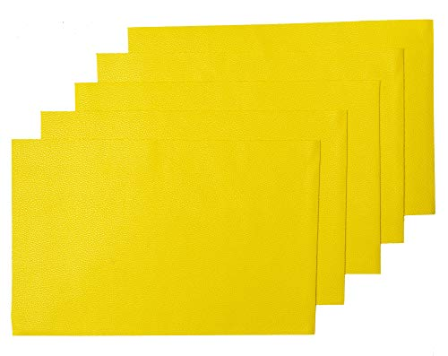 - MeCan Faux Leather Fabric Sheet Solid PU Synthetic Leather(5pcs, 9