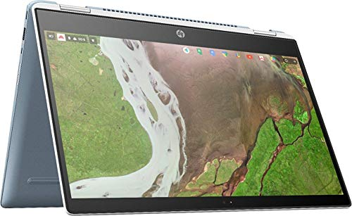 "HP X360 14 2-in-1 Touchscreen Chromebook- 14"" FHD Touch, Intel i3-8130U, 8GB RAM, 64GB eMMC, Extra Storage (Optional), Chrome OS, Ceramic White and Cloud Blue"