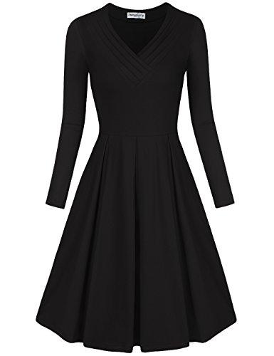 black dress a line skirt - 7