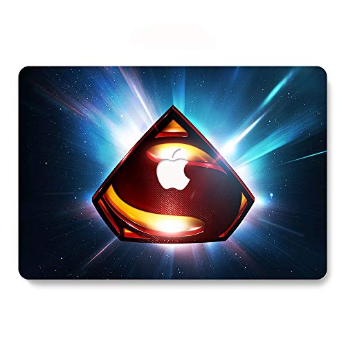 MacBook New Pro 13 Inch Case (Release 2016/2017/2018), Super-Man Pattern Hard Case & Keyboard Cover & Screen Protector Only Compatible MacBook Pro 13 (A1706/A1708/A1989) (Super Hero 14)]()
