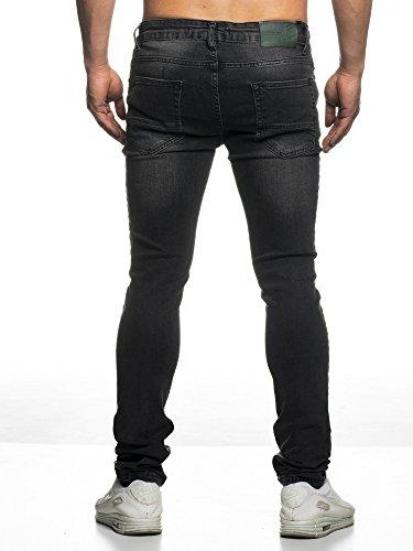 Look Biker nbsp;Negro Style Hombre Slim Jeans 16519 Fit tazzio Used qzPWUqt