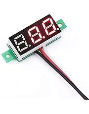 """ICQUANZX Mini 0.28""""Digitale Spanningstester Voltmeter DC 0~100V Volt Meter 3.0-30V Vermogen Batterijbewakingsmeter Blauwe LED-paneelweergave (rood)"""