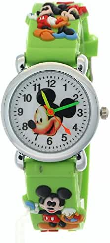 TimerMall Mickey Mouse Green Children Analogue And Quartz Watches