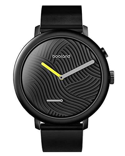 Booland Minimalist Smart Watch Hybrid Smartwatch Fitness Tracker for Men & Women – Black