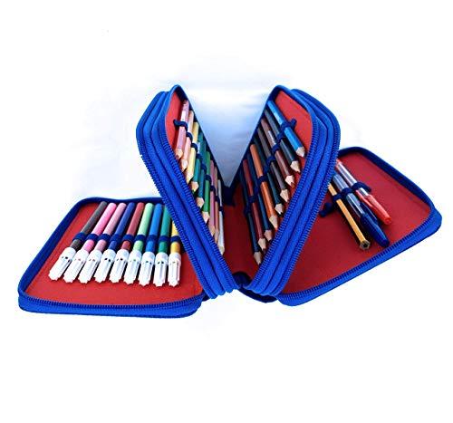 41i7B9QmdfL Haz clic aquí para comprobar si este producto es compatible con tu modelo Capacidad: Estuce Spider-Man de almacenamiento de lápices de colores, tiene 44 grandes ranuras elásticas que pueden contener hasta 18 lápices de colores, 18 rotuladores , 2 bolígrafos , 1 lapiz, 1 goma, 1 sacapunta, 1 horario,1 regla , 1 tijeras. Material: la funda está hecha de tela Oxford de poliéster resistente. Duradera y no se pliega y proporciona una gran protección contra el polvo, el agua, los arañazos y los golpes, no solo se ve bien y se siente bien, sino que también es fácil de mantener y limpiar. Las cremalleras garantizan un servicio a largo plazo.