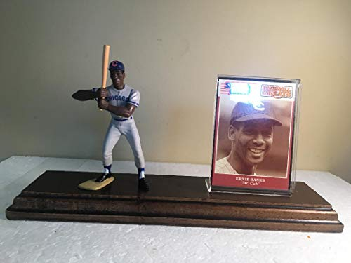 Ernie Banks Chicago Cubs Starting Lineup Figure Mounted Custom Made Wood Plaque ()