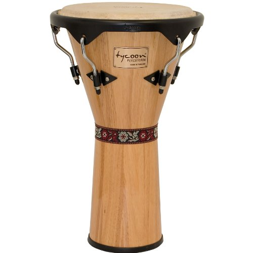 Tycoon Percussion 12 Inch Supremo Series Djembe - Natural Finish (Djembe Natural)