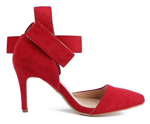 Ageemi Escarpins Haute Chaussures Talons Boucle D Shoes Femmes 8BrHqg8