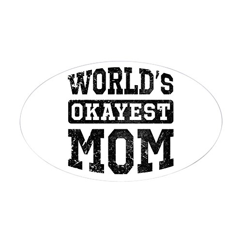 CafePress Vintage Worlds Okayest Sticker