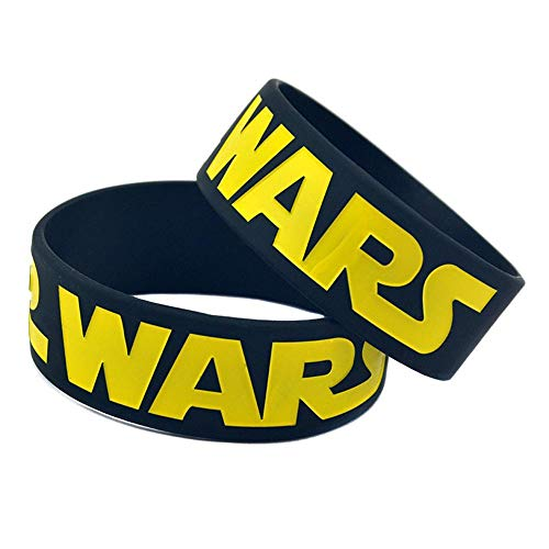 DuDuDu Silicone Bracelets with Sayings 'Star Wars' Rubber Wristbands for Adults and Kids Motivation 1 Inch Set of 10 Pieces Birthday Gift ()