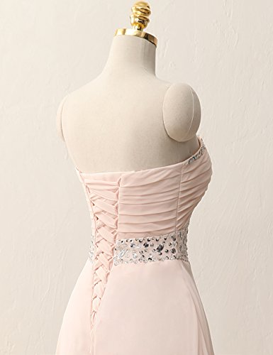 A Linie Abendkleid Chiffon Cocktailkleider Kurz Brautjungfernkleid Ballkleider Partykleid Blau wxXYUZfWq