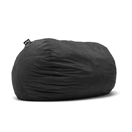 Big Joe Lenox Fuf Foam Filled Bean Bag, Extra Extra Large, Black - 1655 (Bean Bag Filled Pillows)