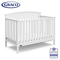 Designed for many years of use, the Graco Benton 4-in-1 Convertible Crib can easily convert from a crib to a toddler bed, daybed and full-size bed with headboard, and features a three-position adjustable mattress support base (optional Graco ...