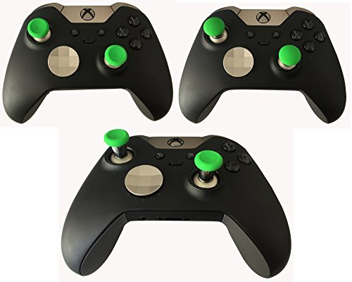 E-MODS GAMING® Green Moded Xbox One Elite Controller 6 Swap thumbstick Grips Analog thumb sticks Replacement thumbsticks for Xbox one Elite
