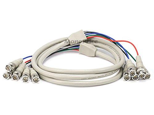 Monoprice 100091 6-Feet 5BNC RGB to 5BNC RGB Video Cable (Bnc Cable Video Rgb)