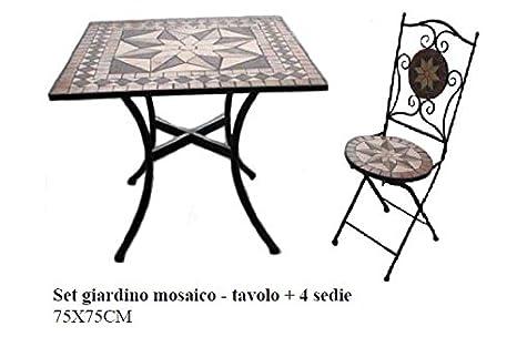 Tavoli Da Giardino Con Mosaico.Bagno Italia Arredo Per Esterno Set Giardino Tavolino Con Mosaico
