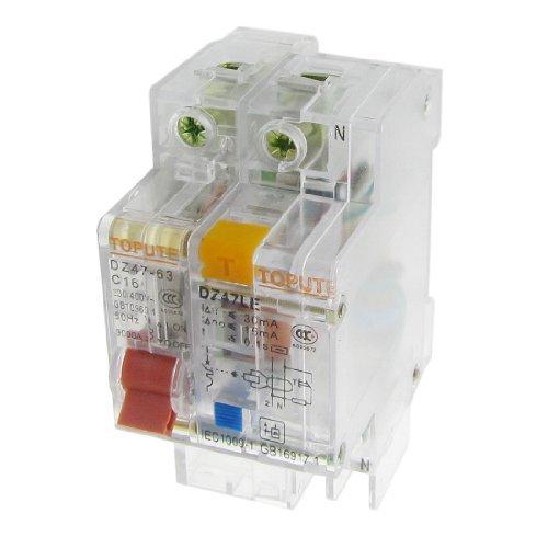 DealMux透明AC 230V 400V 16A 1P + N漏電ブレーカ B06XSVLDZW