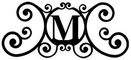 (Wrought Iron House Plaque Letter M)