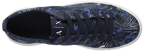 Sneaker A Jungle Exotic Low Blue Exotic Armani X Exchange Exotic Print Cut Men UXxzTqXwAr