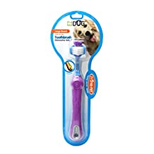 EZ Dog Pet Toothbrush Three Sided Toothbrush for All Dogs