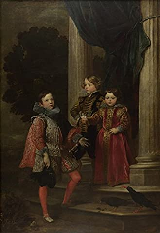 High Quality Polyster Canvas ,the Best Price Art Decorative Prints On Canvas Of Oil Painting 'Anthony Van Dyck The Balbi Children ', 30 X 44 Inch / 76 X 111 Cm Is Best For Home Theater Decor And Home Gallery Art And (Turn Concrete Into Gold)
