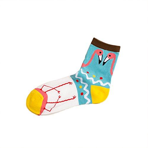 VANKER 1 par Moda femenina serie novedad tripulación calcetines suave cálido cómodo -- Enrejado Punto pequeño