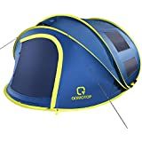 OT QOMOTOP 4 Person Pop up Tent, 9.5'X7'X50'', 10 Second Setup Tent, Waterproof Tent, 2 Big Doors and 2 Roof Vents, 4 Ventilated Mesh Windows, Instant Tent for Family