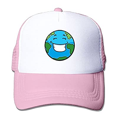 Smiling Earth Baseball Cap Adjustable Snapback Custom Mesh Trucker Hat by Swesa