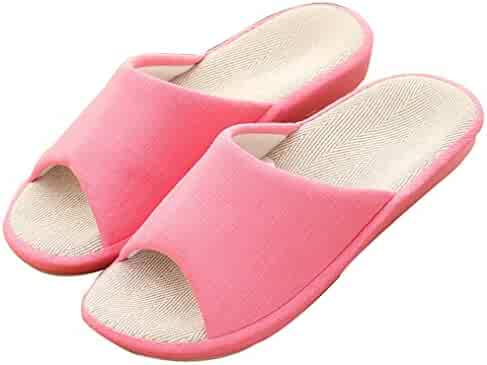 03fff42ca09 Blubi Women s Summer Candy Color Flax Skid-proof House Slippers Cute  Slippers