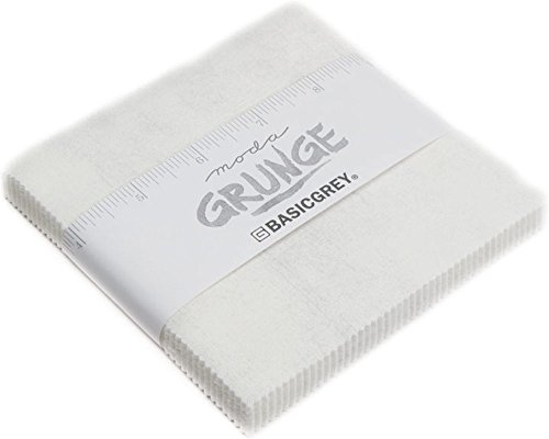 Paper Charm - BasicGrey Grunge Basics White Paper Charm Pack 42 5-inch Squares Moda Fabrics 30150PP 101